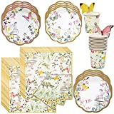 Talking Tables Truly Fairy Party Bundle | Designer Plates, Napkins, and Cups for a Fairy Themed Party