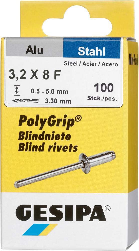 Gesipa Mini-Pack Polygrip alu//acier 4,8 x 10