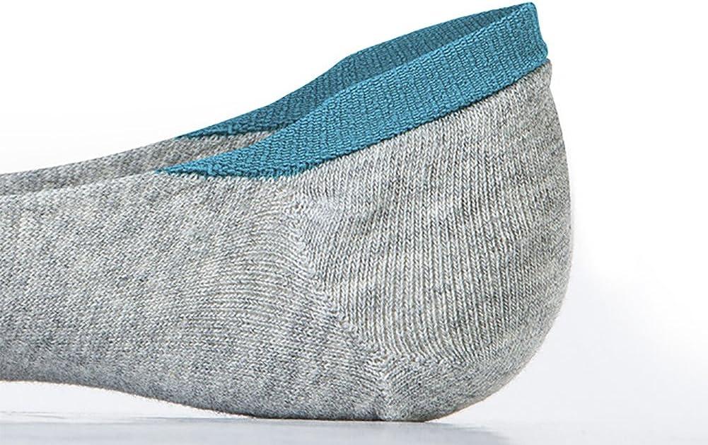 ChezAbbey Mens No Show Casual Socks 6 Pack Low Cut Non Slip Heel Black
