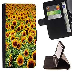 Cat Family ???¡¯?¡??nico Dise???¡¯???¡Ào caja de la PU billetera de cuero - FOR Apple Iphone 6 PLUS 5.5 - Sunflower Sun flower -