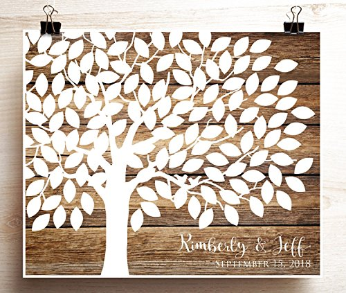 guest book wood - 3