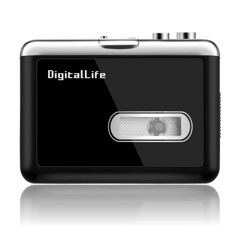 Cassette Player Tape to MP3 Converter Retro Walkman Auto Reverse Protable Audio Tape Player USB Cassette Capture, Save to USB Flash Drive Directly