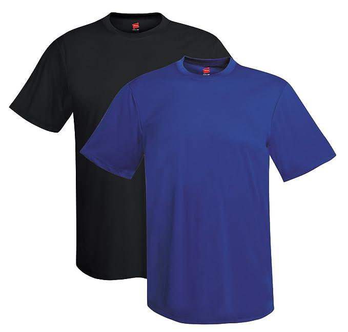 3c74afd3a Amazon.com  Hanes Men s Short Sleeve Cool Dri T-Shirt UPF 50+ (Pack ...