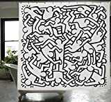Izola PEVA Water and Mold Resistant Shower Curtain - Keith Haring