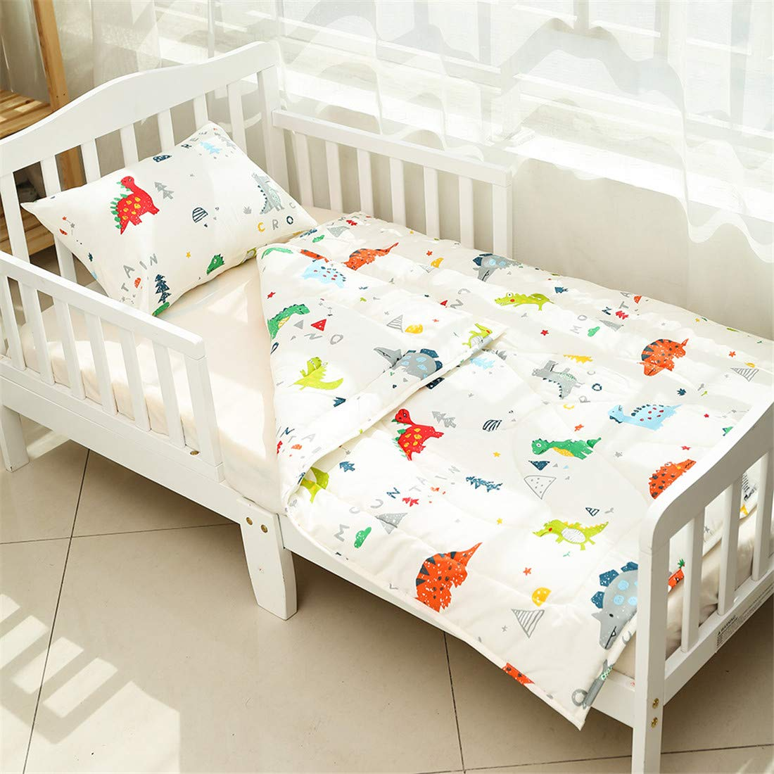 Soft Cot Comforter for Boys and Girls 1 Pack Satin Baby Cradle Quilt Soft Warm Throw Blanket Bed Cover 33 X 42 Dinosaur Pattern UOMNY Toddler Blanket