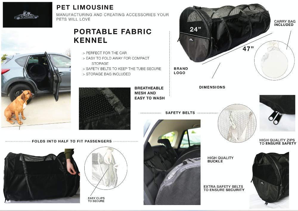 Pet Limousine Perrera de Viaje para Mascotas, Tubo de Malla de ...
