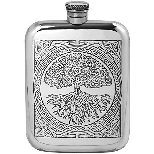 6 Oz Pewter Hip Flask - 3