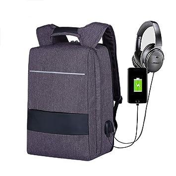 ROOKLY Mochila para Laptop 17 Pulgadas Laptop Bag USB Puerto De Carga Ligera Y Delgada Resistente