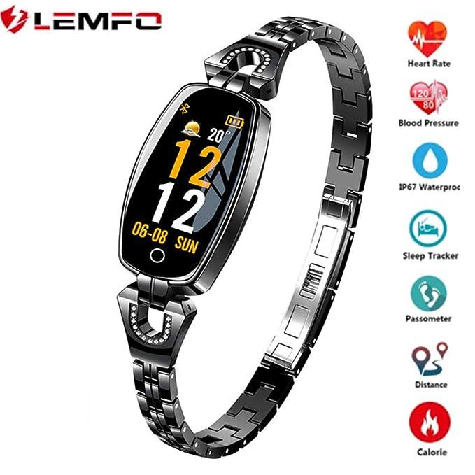 LEMFO H8 Smartwatch, IP67 Impermeable Monitor de Ritmo ...
