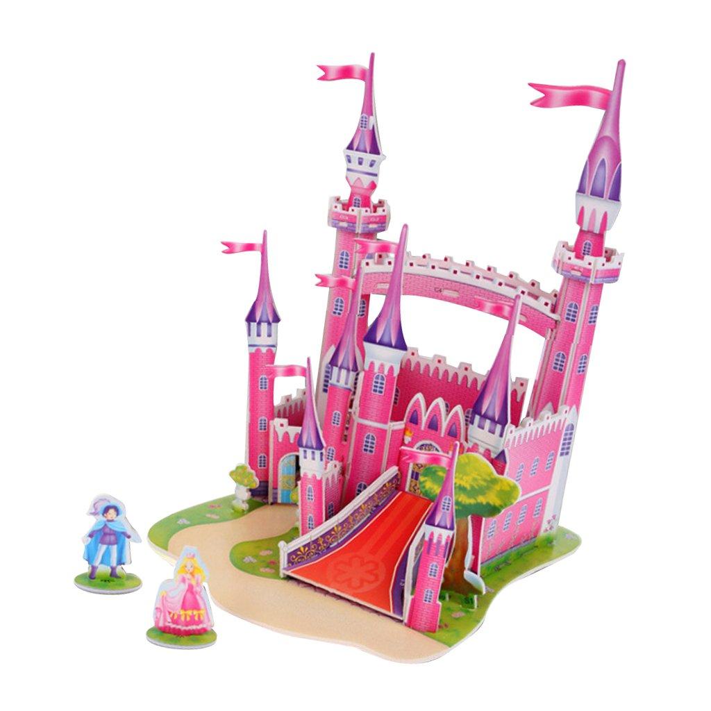 最も優遇 Homyl 赤ちゃん用 3Dジグソーパズルおもちゃ DIYビルディングモデル 子供用 赤ちゃん用 幼稚園のおもちゃ ギフト ピンクのお城 ピンクのお城 子供用 B07FRFCSJ1, very-pet:a0317818 --- 4x4.lt