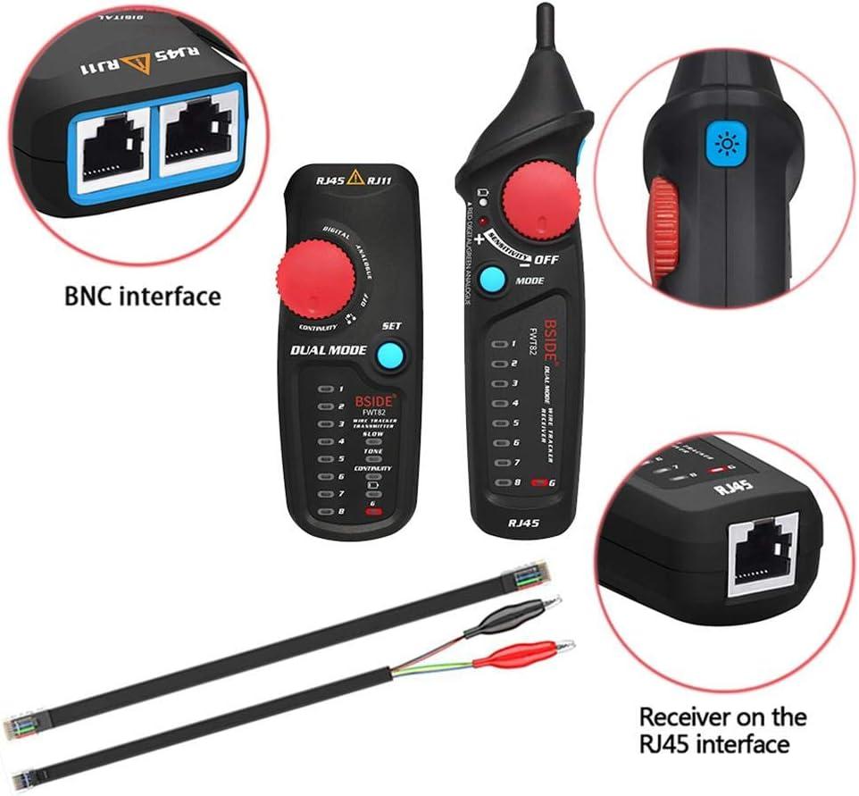 Slibrat BSIDE FWT82 Detector de l/ínea de detector de rastreador de cable de red de modo dual