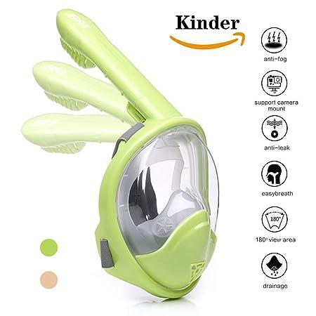 Jerfun Tauchermaske Schnorchelmaske Vollmaske Tauchmaske Vollgesichtsmaske mit Anti-Fog Anti-Leck, Abnehmbare Kamerahalterung