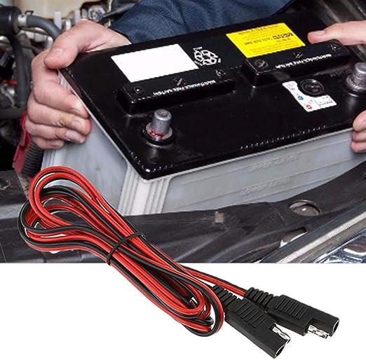 Conector Macho a Conector Hembra 2 m Cobre Cable Adaptador de bater/ía para veh/ículo Ardentity Cable de alimentaci/ón SAE