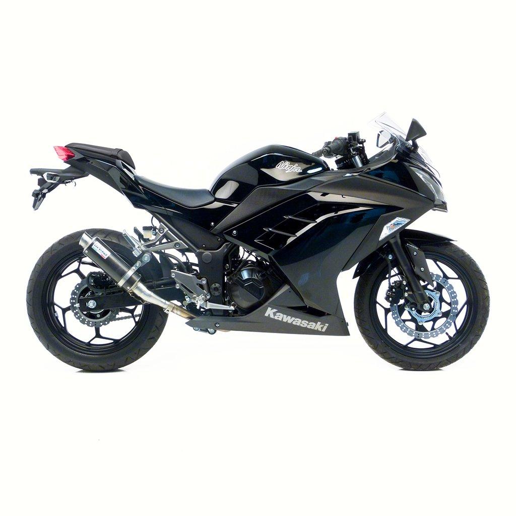 Auspuff LeoVince GP Corsa Racing Slip-On Edelstahl Kawasaki Ninja 300 ABS EX300B Z ER300A