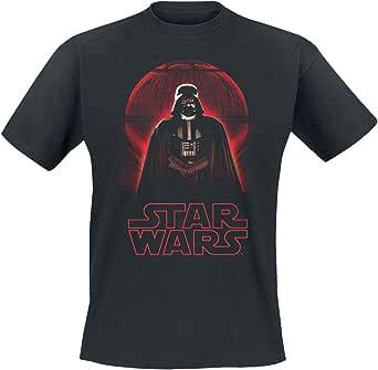 Star Wars Rogue One - Darth Vader Death Star Hombre Camiseta Negro, Regular
