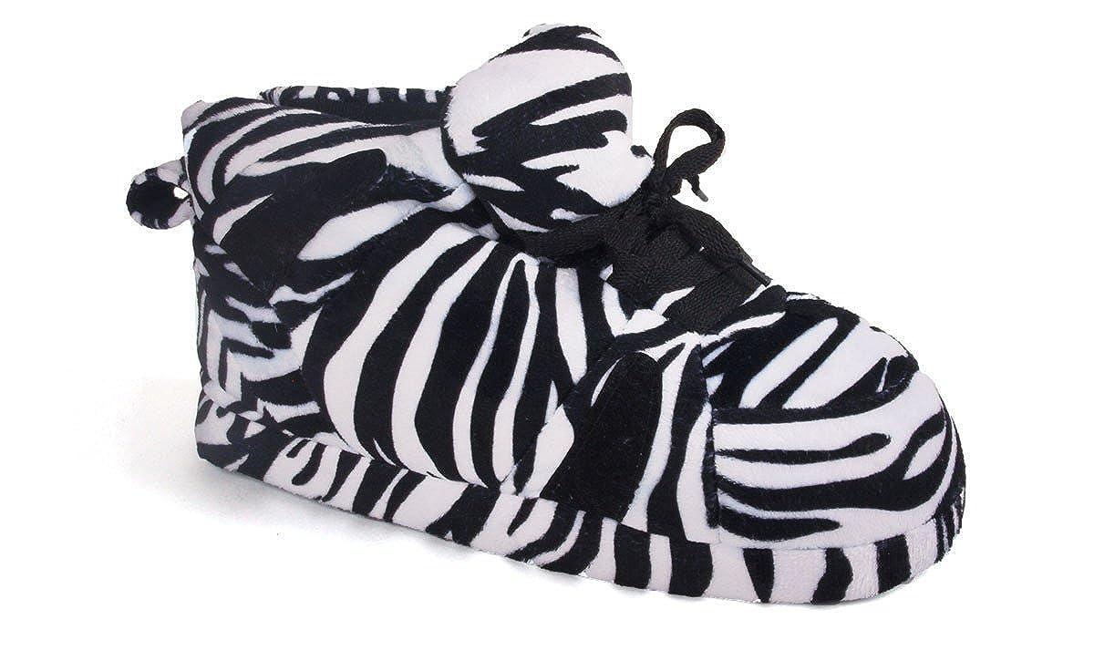 6f232e78b8c159 Amazon.com  1093-4 - Snooki s Zebra Print - XL - Happy Feet Snooki Slippers   Shoes