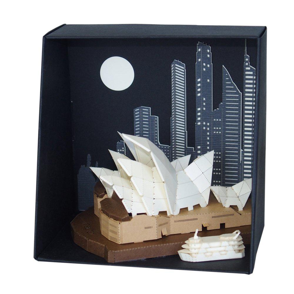 amazon com paper nano sydney opera house building kit toys u0026 games