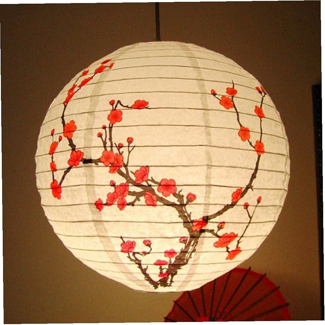 Froiny 35cm Round Paper Lanterns Plum Blossom Paper Lamp Artifacts Decorative Lanterns Retro Decoration Light for Restaurant Wedding Party