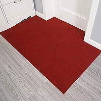 ESUPPORT Large Welcome Entrance Door Mats Household Absorbs Mud Non Slip Entryway Floor Rug, Wine