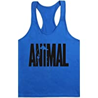 waylongplus Mens Animal Letter Print Fitness Gym Stringer