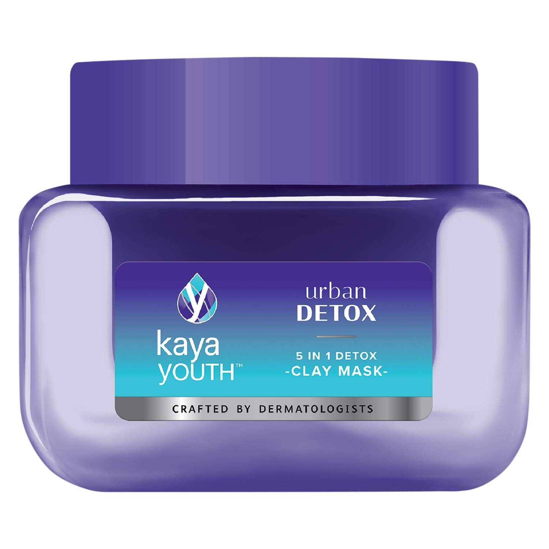 Kaya Youth Urban Detox 5 in 1 Clay Mask – Instantly Brightens Skin, 45g