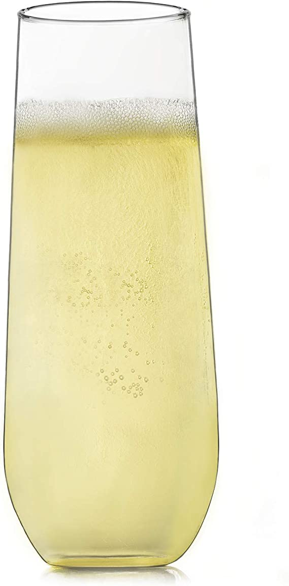 Libbey Stemless Champagne Flute Glasses