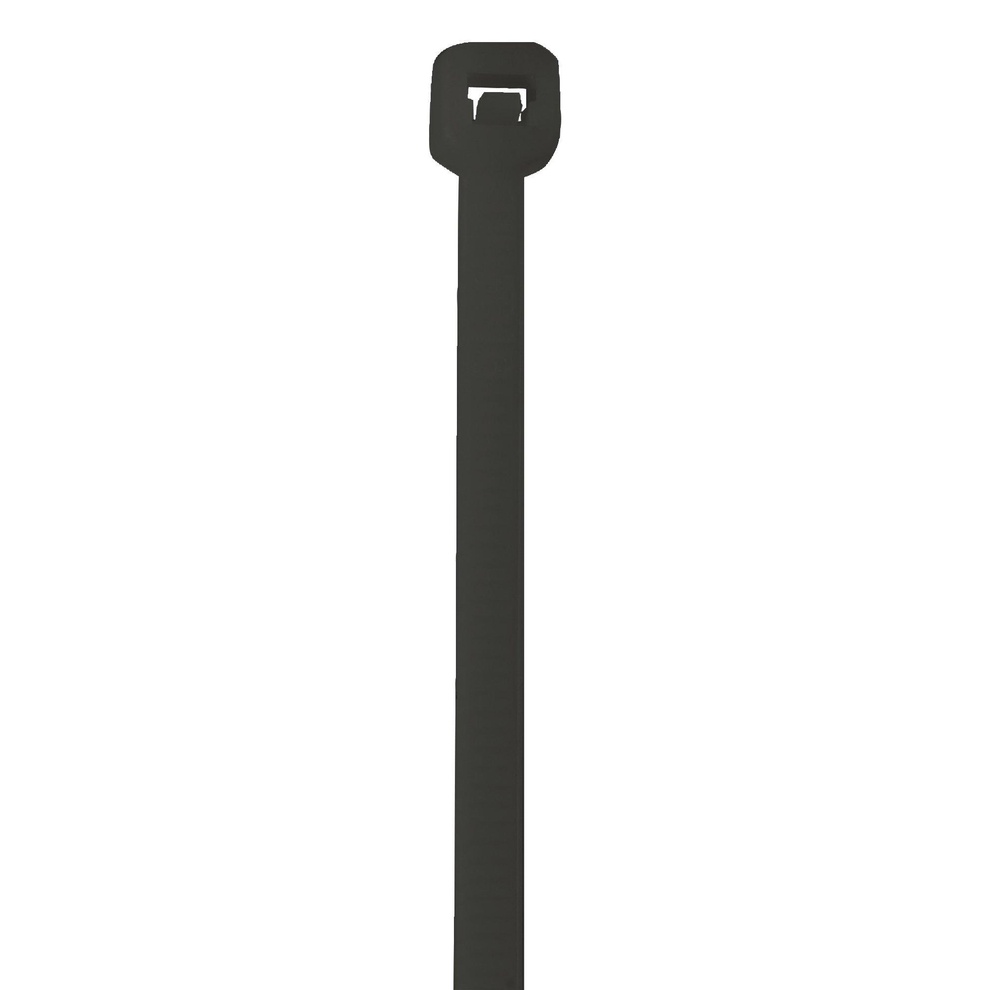 Aviditi Nylon UV Stabilized Cable Tie, 18'' L x 3/16'' W, Black, Case of 500 (CTUV1850)