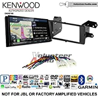 Volunteer Audio Kenwood DNX874S Double Din Radio Install Kit with GPS Navigation Apple CarPlay Android Auto Fits 2012-2015 Non Amplified Toyota Prius C