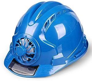 Aslion Solar Fan Working Helmet Adjustable Ventilation Sunscreen Waterproof Architecture Worker Cap