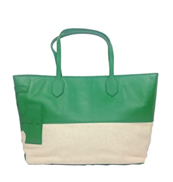 Image Unavailable. Image not available for. Color  Tory Burch Stacked Two  Tone East West Tote ... 6cd409296f9e9