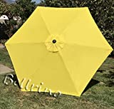 """BELLRINO DECOR 10 ft 8 Ribs Replacement YELLOW """" STRONG & THICK """" Umbrella Canopy 10 ft 8 Ribs YELLOW (Canopy Only) Review"""