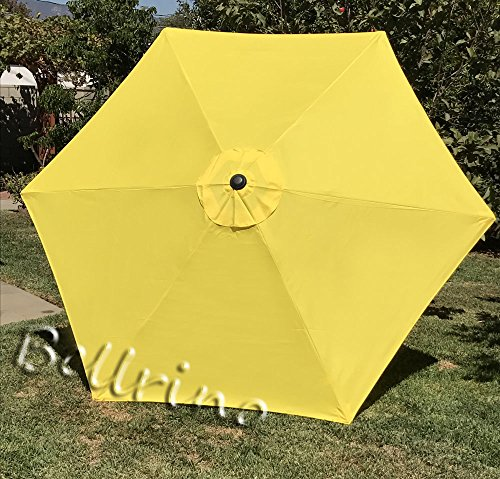 "BELLRINO DECOR 10 ft 8 Ribs Replacement YELLOW "" STRONG & THICK "" Umbrella Canopy 10 ft 8 Ribs YELLOW (Canopy Only) Review"