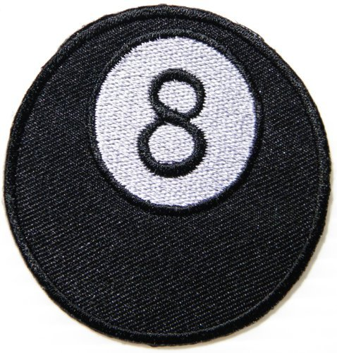 8 Eight Lucky Number Ball Pool Billiard Logo Biker Lady Biker Rider Tatoo Jacket T-shirt Patch Sew Iron on Embroidered Sign Badge Costume