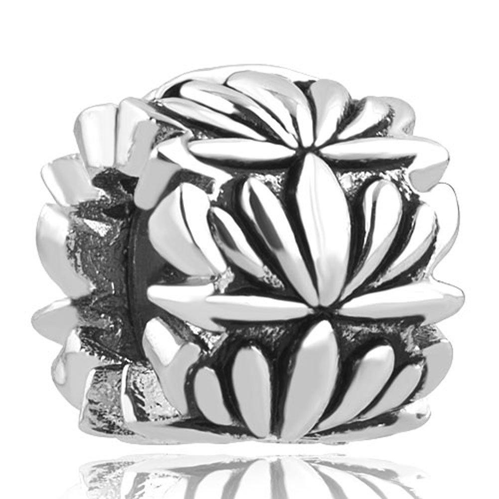 Charmed Craft Lotus Clip Lock Charm Stopper Beads for Bracelets pandöra charms CCA_DPC_MY808