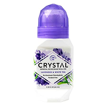 Crystal Mineral Deodorant Roll-On, Lavender White Tea 2.25 oz Pack of 6