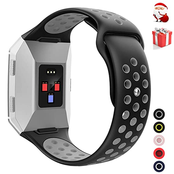 Wearlizer Sport Band Compatible Fitbit Ionic Bands Women Men,Silicone Breathable Band Replacement Accessories Strap Bracelet Compatible Fitbit Ionic ...
