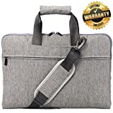 Cheap #1 Top Recommended Laptop Bag – Travel Business Carrying Case for Men and Women- Grey
