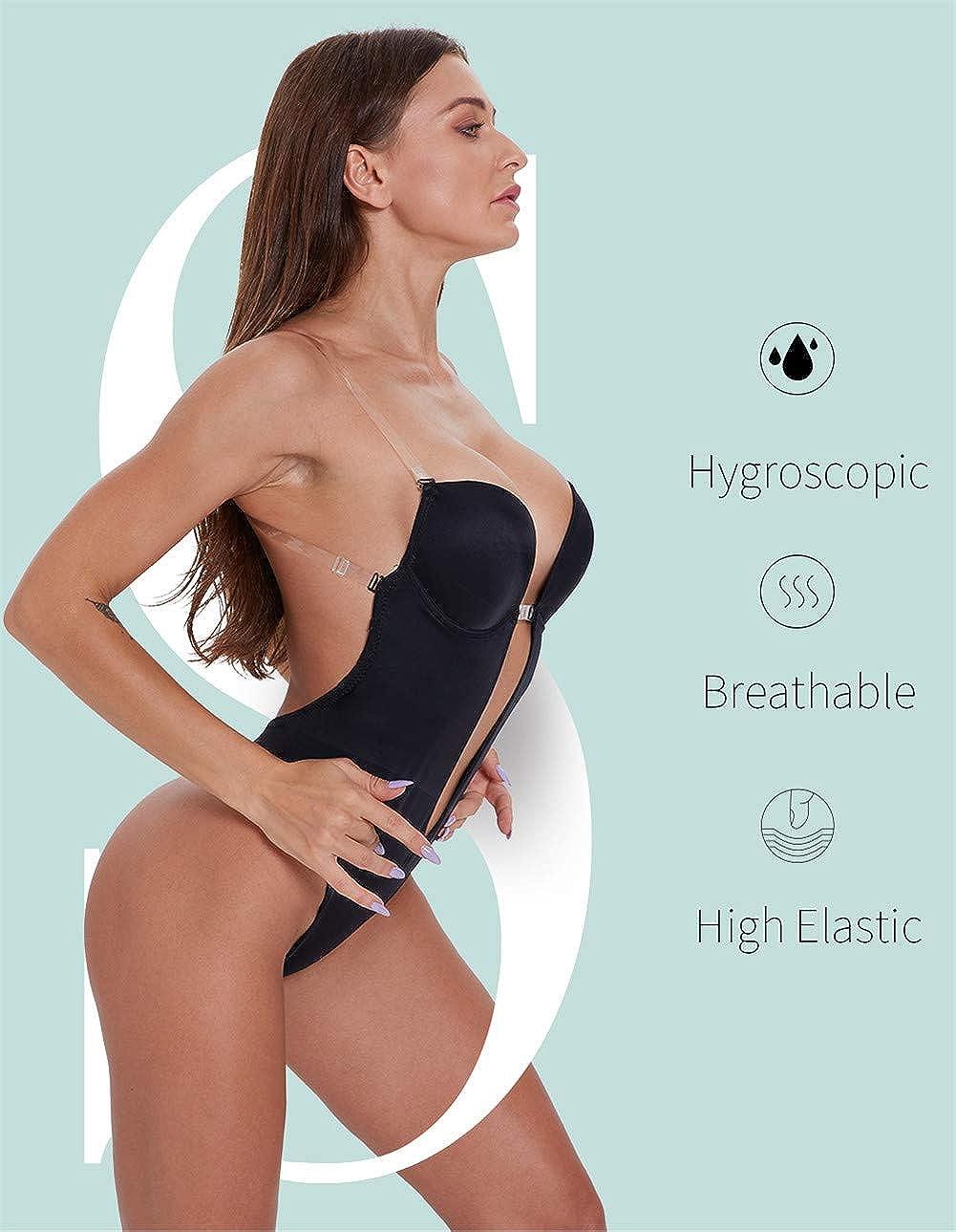 xiaozhifu Femmes Body Plongeant Shapewear Body Shaper Body Backless String Shapewear Body Suit