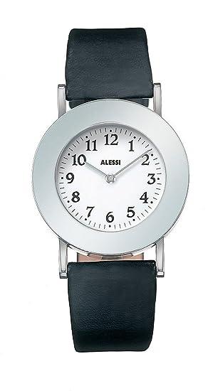 Reloj Unisex es BlancoAmazon Analógico De Alessi Al4000 Cuero LAR543j