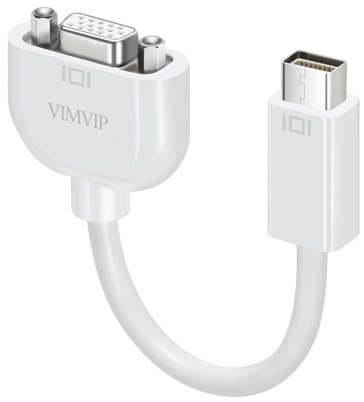 VIMVIP Mini DVI to VGA Adapter Cable for MacBook White by VIMVIP