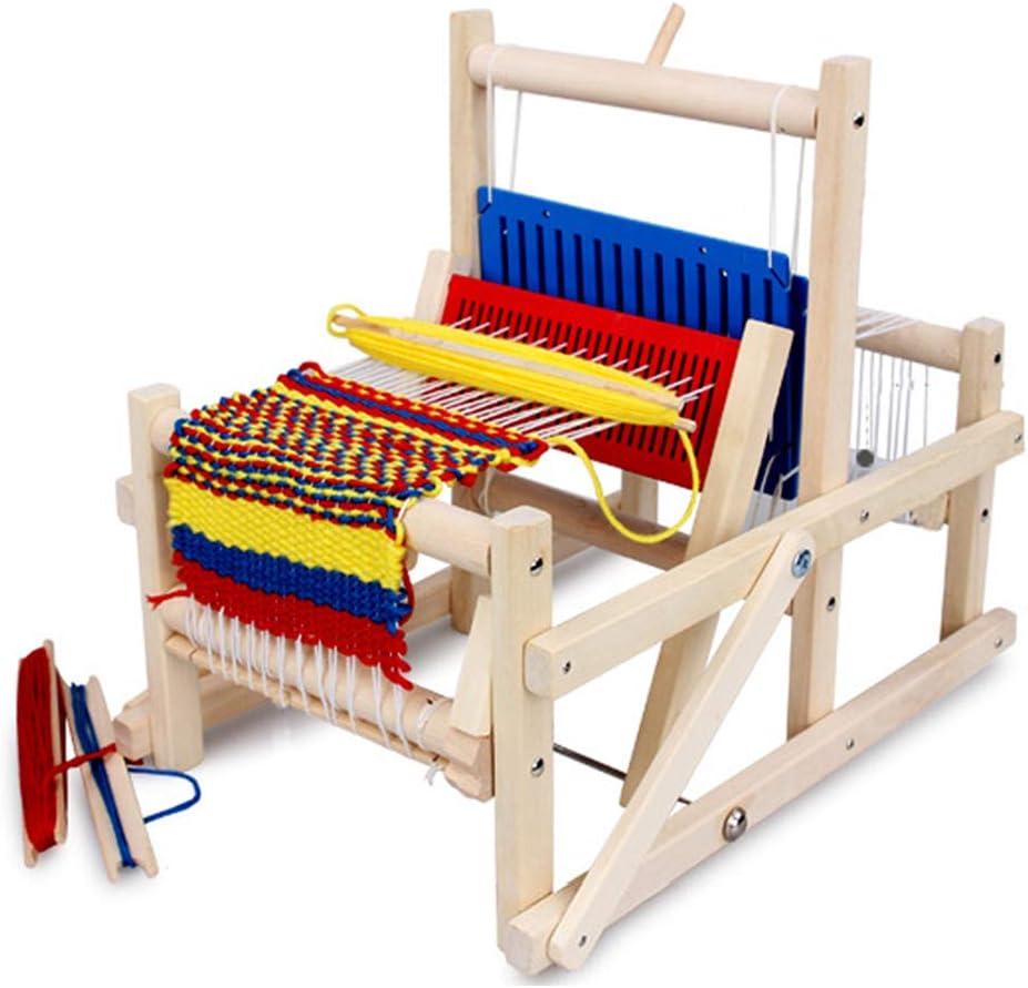 Webstuhl f/ür Anf/änger Erwachsene Kinder Schals Tapisserie Machen Ideales DIY Weaving Loom longchun east Webrahmen aus Holz Set