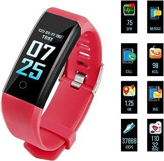 Fitness Armband, Fitness Trackers Aktivitätstracker Pulsuhren Wasserdicht IP67 Schrittzähler Fitness Uhr Farbdisplay Für Damen Herren und Kinder Kompatibel für iPhone Android Handy