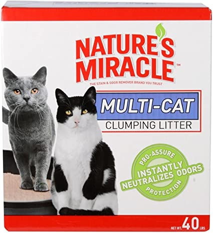 Pail Natures Miracle P-98134 Intense Defense Clumping Litter Dust Free Super Absorbent Fast-Clumping Formula