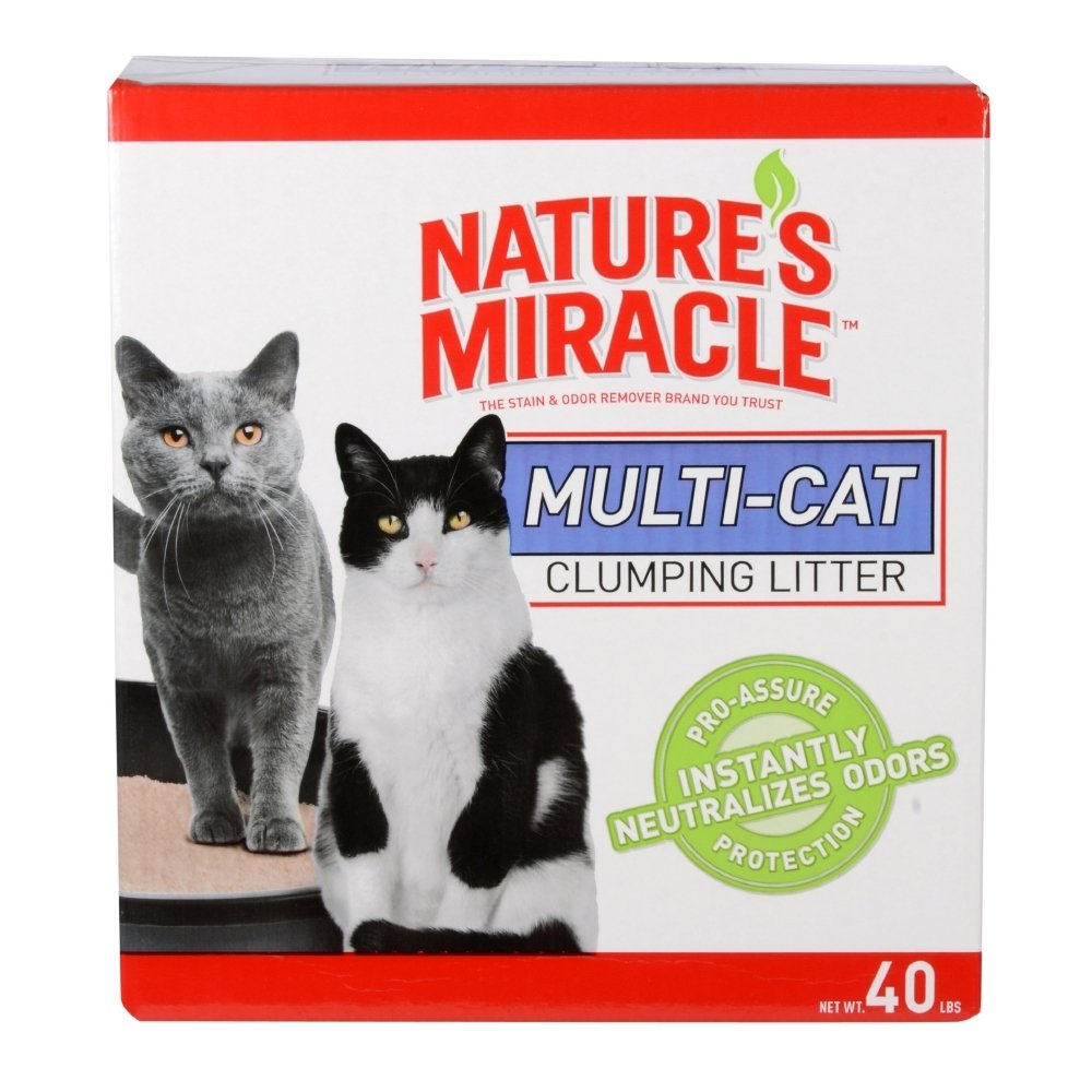 Nature's Miracle Multi-Cat Clumping Clay Litter, Fresh Linen Fragrance, Super Absorbent Fast-Clumping Formula Cat Litter