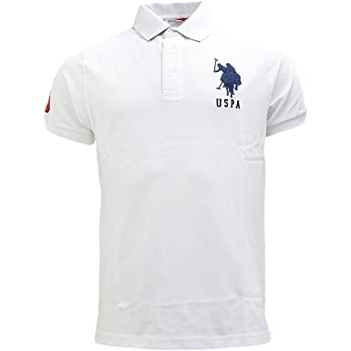 Mens Polo Shirt U S Polo Assn Plain Polos Horse Logo White X