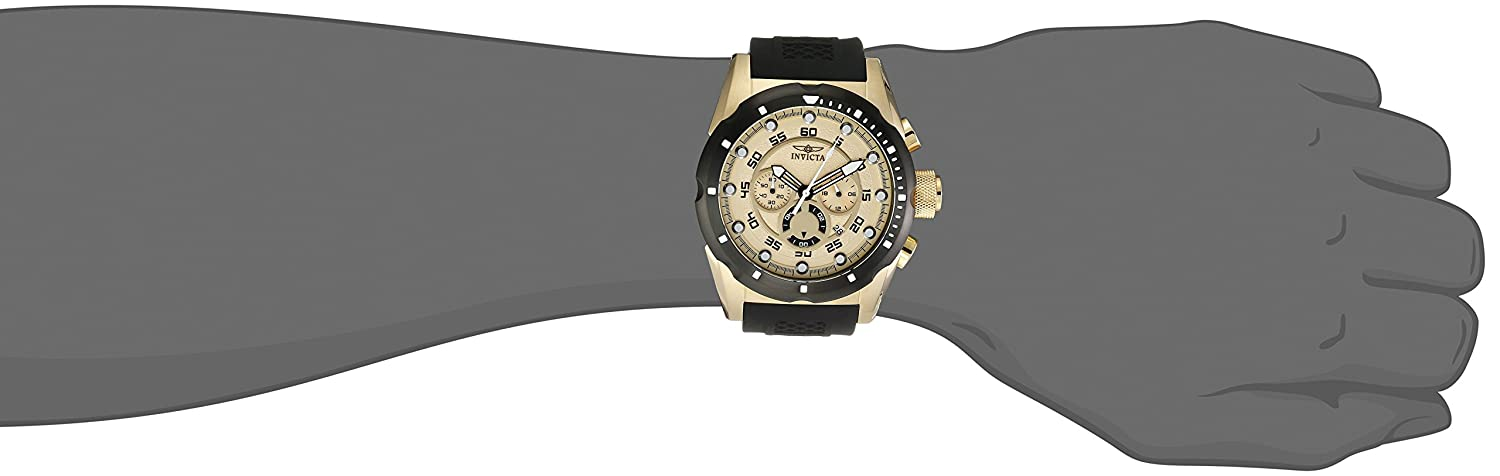 Invicta Men s 20306 Speedway 18k Gold Ion-Plated Stainless Steel Watch