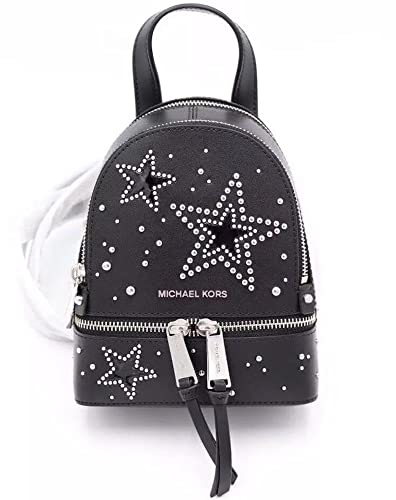 90ae67119a6c ... ireland michael kors rhea xs mini messenger backpack black star studs  7b707 5f27d