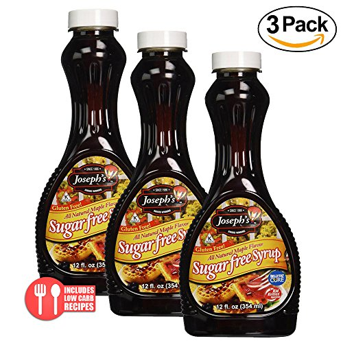 - Value 3 Pack: Joseph's Sugar Free Maple Syrup, 12 oz.