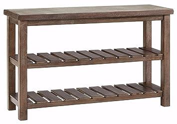 Ashley Furniture Signature Design   Vennilux Sofa/Console Table   2 Shelves    Vintage Casual