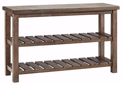 kitchen console table large ashley furniture signature design vennilux sofaconsole table shelves vintage casual amazoncom sofa